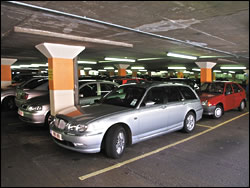 Parking garages have lower theft rates